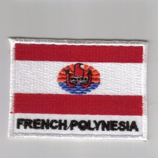French-Polynesia embroidered patches - country flag French-Polynesia patches / iron on badges