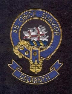 Galbraith clan crest badge- As Obice Suavior