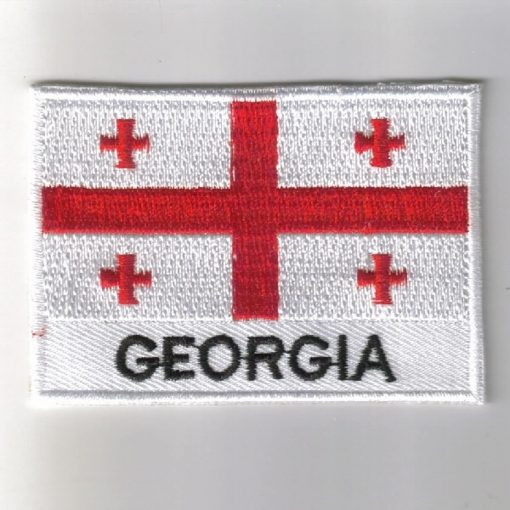 Georgia embroidered patches - country flag Georgia patches / iron on badges