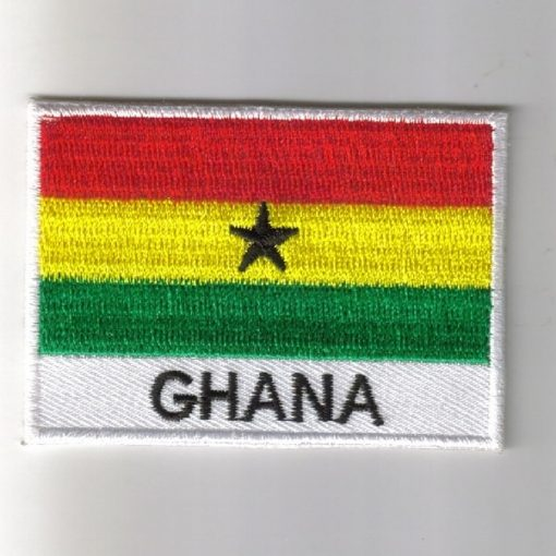 Ghana embroidered patches - country flag Ghana patches / iron on badges