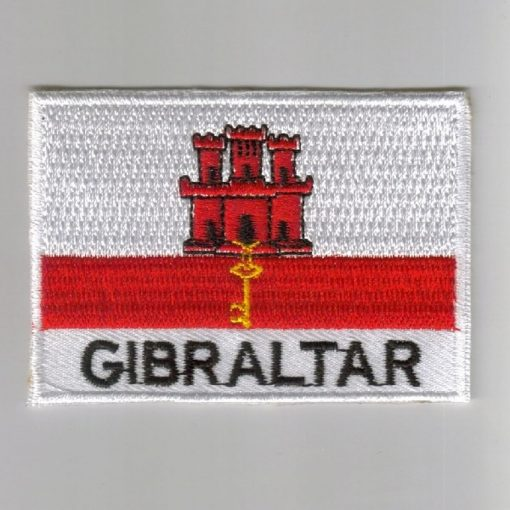 Gibraltar embroidered patches - country flag Gibraltar patches / iron on badges