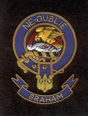 Graham clan crest badge- Ne Oublie