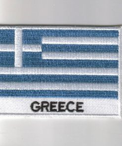 Greece embroidered patches - country flag Greece patches / iron on badges