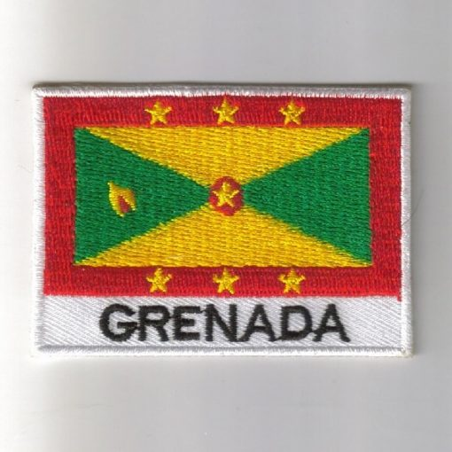 Grenada embroidered patches - country flag Grenada patches / iron on badges