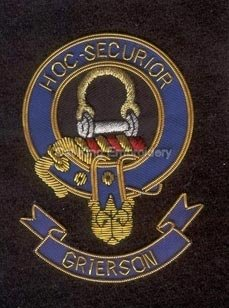 Grierson Clan crest badge - Hoc Securior