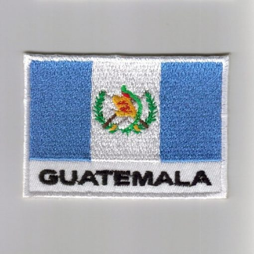 Guatemala embroidered patches - country flag Guatemala patches / iron on badges