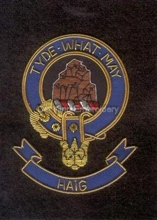Haig clan crest badge - Tyde What May