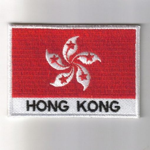 Hong-Kong embroidered patches - country flag Hong-Kong patches / iron on badges