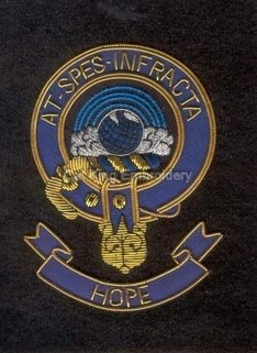 Hope clan crest badge - At Spes Infracta