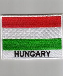 Hungary embroidered patches - country flag Hungary patches / iron on badges