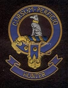 Hunter clan crest badge - Cursum Perficio