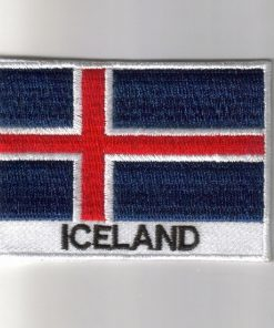 Iceland embroidered patches - country flag Iceland patches / iron on badges