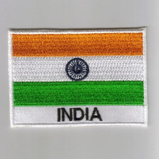 India embroidered patches - country flag India patches / iron on badges