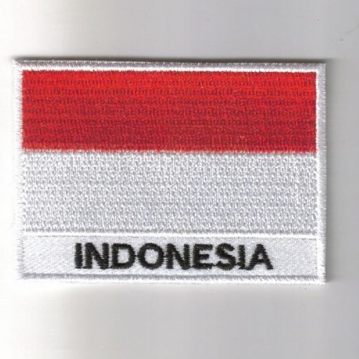 Indonesia embroidered patches - country flag Indonesia patches / iron on badges