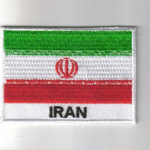 Iran embroidered patches - country flag Iran patches / iron on badges