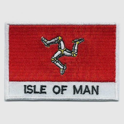 Isle-of-man embroidered patches - country flag Isle-of-man patches / iron on badges