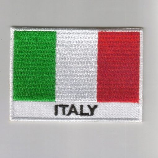 Italy embroidered patches - country flag Italy patches / iron on badges