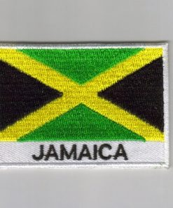 Jamaica embroidered patches - country flag Jamaica patches / iron on badges