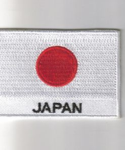 Japan embroidered patches - country flag Japan patches / iron on badges