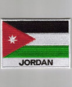 Jordan embroidered patches - country flag Jordan patches / iron on badges