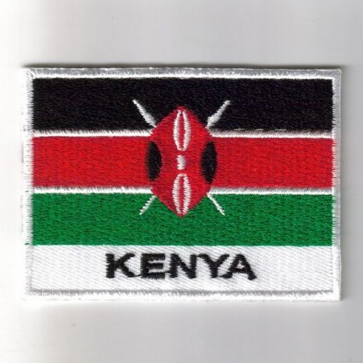 Kenya embroidered patches - country flag Kenya patches / iron on badges