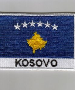 Kosovo embroidered patches - country flag Kosovo patches / iron on badges