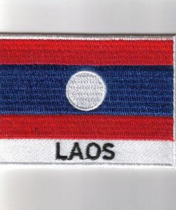 Laos embroidered patches - country flag Laos patches / iron on badges