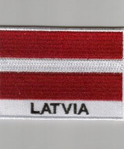 Latvia embroidered patches - country flag Latvia patches / iron on badges