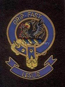 Leslie clan crest badge - Grip Fast