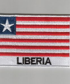 Liberia embroidered patches - country flag Liberia patches / iron on badges