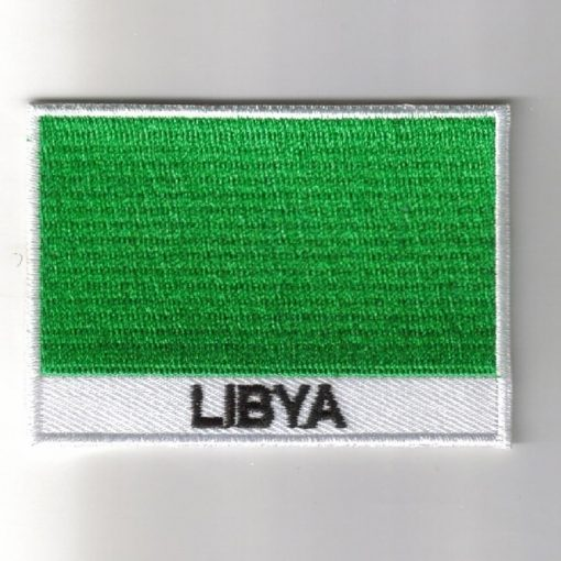 Libya embroidered patches - country flag Libya patches / iron on badges