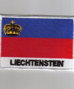 Liechtenstein embroidered patches - country flag Liechtenstein patches / iron on badges