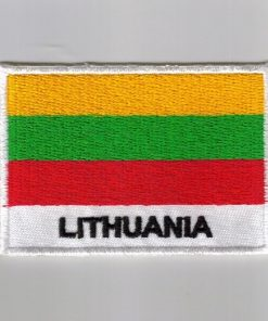 Lithuania embroidered patches - country flag Lithuania patches / iron on badges