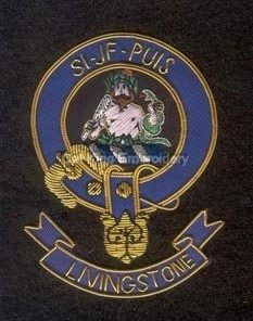 Livingstone clan crest badge - Si Jf Puis