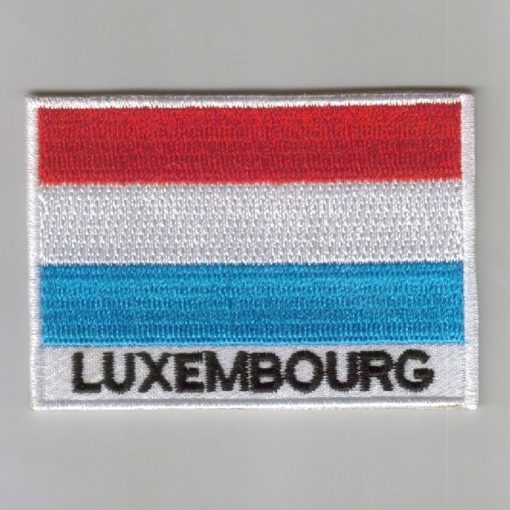 Luxembourg embroidered patches - country flag Luxembourg patches / iron on badges