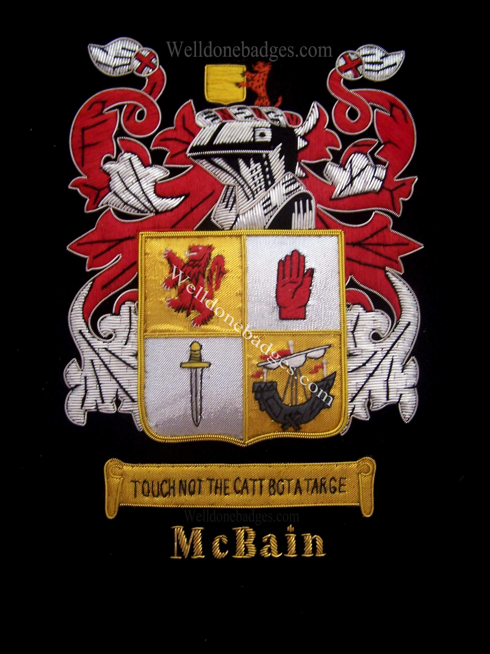 Embroidered Family Crests / Coat of Arms ( Custom order Accepted )