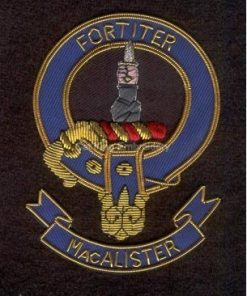 Macalister clan crest badge - Fortiter