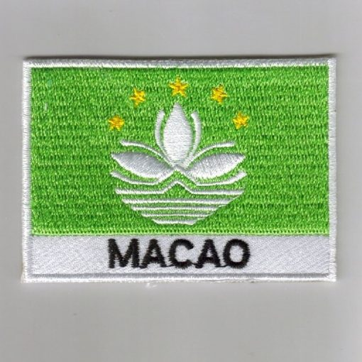 Macao embroidered patches - country flag Macao patches / iron on badges