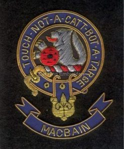 Macbain clan crest badge - Touch Not A Catt Bot A Targe