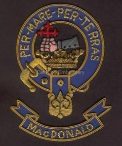 Macdonald clan crest badge - Per Mare Per Terras