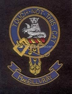 Macgillvray clan crest badge - Touch Not This Cat