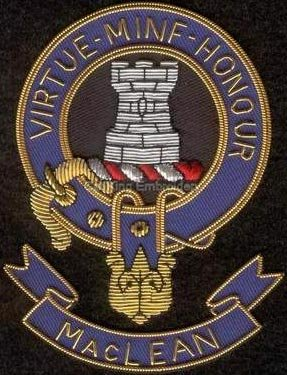 Maclean clan crest badge - Virtue Minf Honour