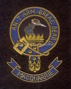 Macquarrie clan crest badge - An T Arm Breac Dearg