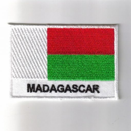 Madagascar embroidered patches - country flag Madagascar patches / iron on badges