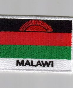 Malawi embroidered patches - country flag Malawi patches / iron on badges