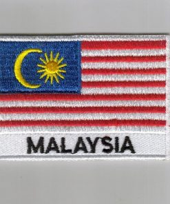 Malaysia embroidered patches - country flag Malaysia patches / iron on badges