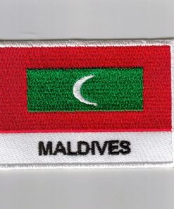 Maldives embroidered patches - country flag Maldives patches / iron on badges