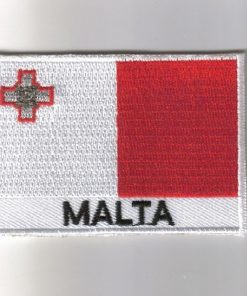 Malta embroidered patches - country flag Malta patches / iron on badges