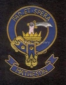 Matheson clan crest badge - Fac Et Spera
