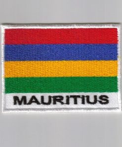 Mauritius embroidered patches - country flag Mauritius patches / iron on badges